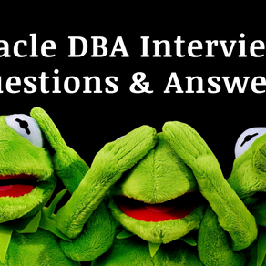 Oracle DBA Interview Questions & Answers