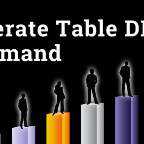 Generate Table DDL Command