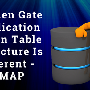Golden Gate Replication When Table Structure Is Different – COLMAP