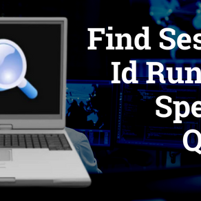Find Session Id Running Specific Query