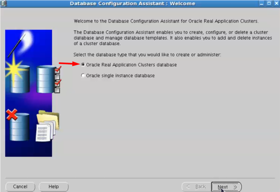 database configuration assistant - oracle real application cluster database