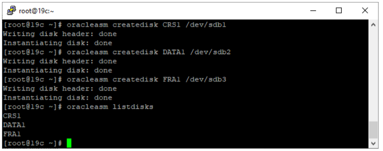 oracle non-asm to asm migration - oracle listdisks