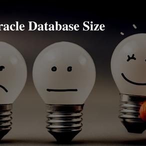 Check Oracle database size