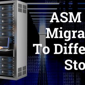 ASM Disk Migration to Different Storage