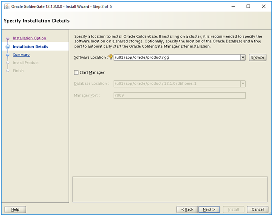 install golden gate - oracle goldengate software installation