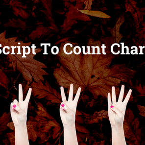 Shell Script to Count Characters