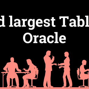 Find largest table in oracle