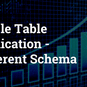 Single Table Replication – Different Schema