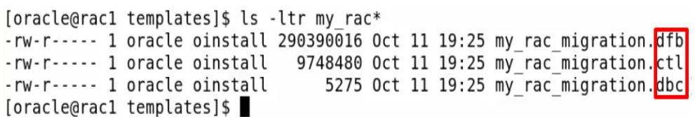 dbca - database template files