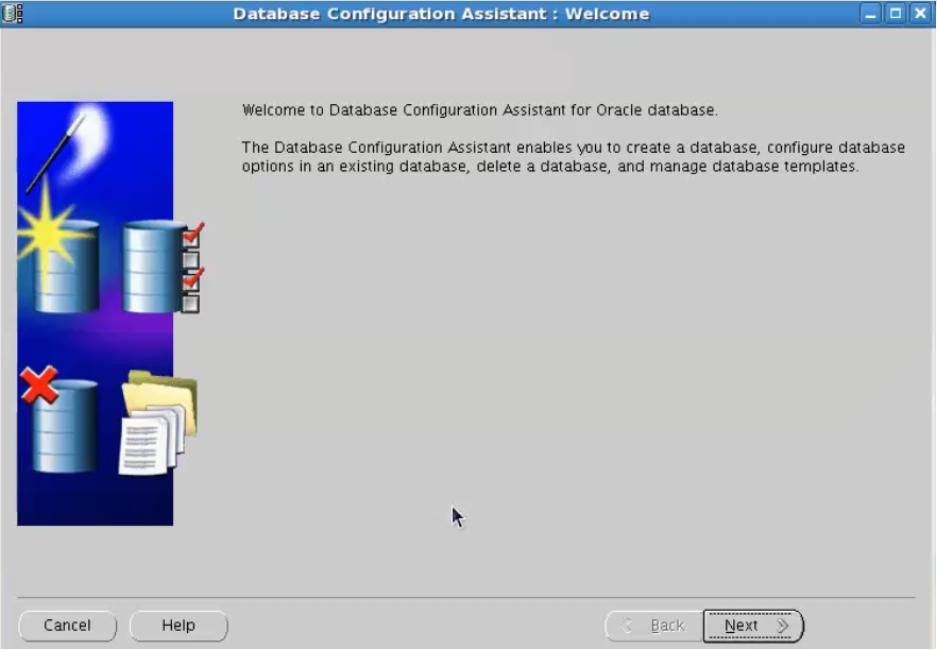 database configuration assistant - start dbca
