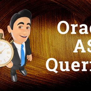 Oracle ASM Queries