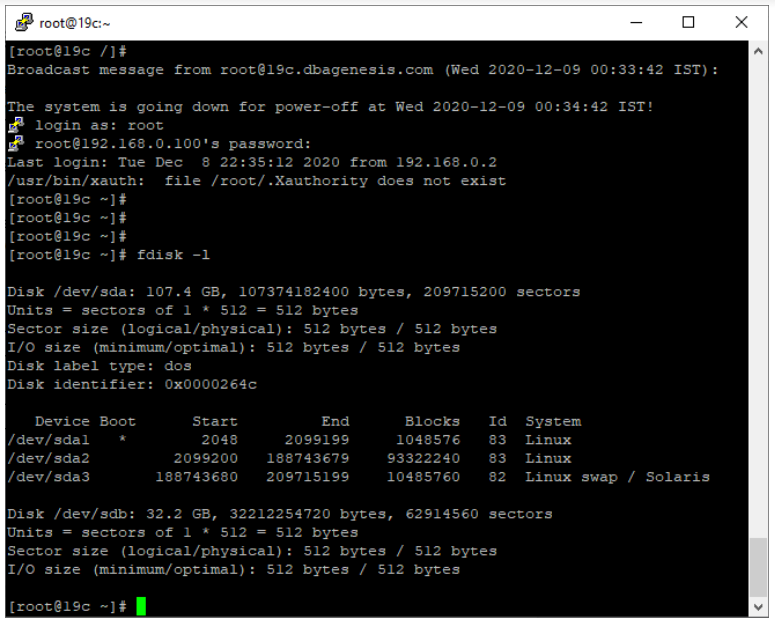 oracle non-asm to asm migration - check disk partitions