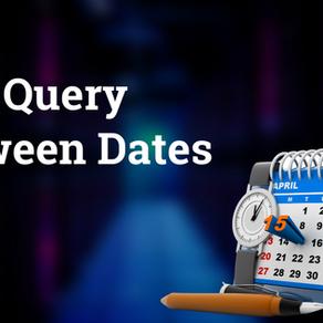 SQL query between dates