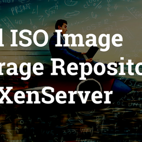 Add ISO image storage repository on XenServer