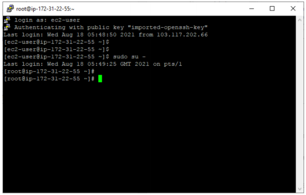 convert pem to ppk file using PuTTygen - ec2-user