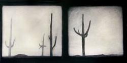 Saguaro Landscape Diptych