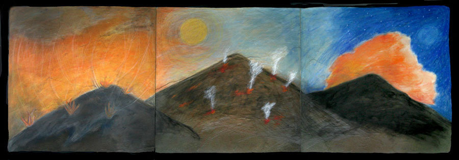 Fire On The Mountains Triptych