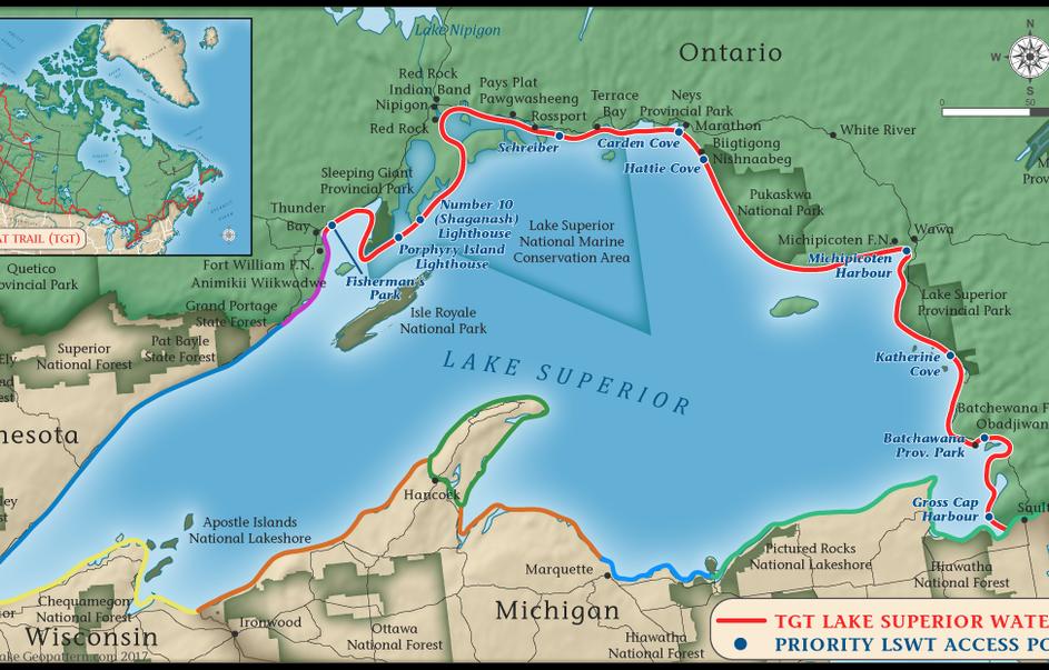 Lake Superior Water Trail Map