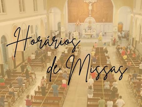 Horários de Missas e Novenas