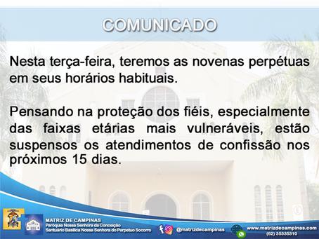 COMUNICADO - 16/03/2020