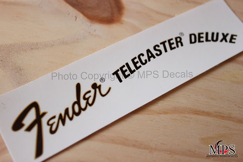 Fender Telecaster Deluxe Guitar Headstock Waterslide Decal