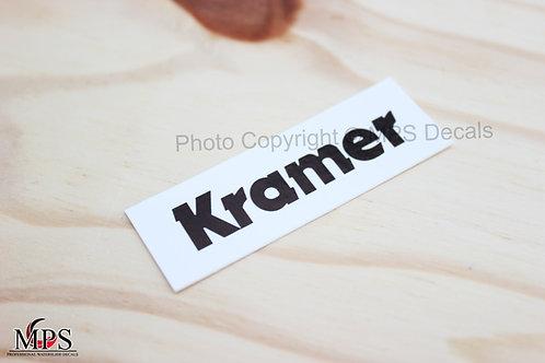 Kramer Guitar Headstock Decal