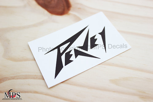 PEAVEY Guitar Headstock Waterslide Decal