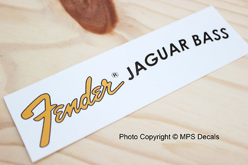 Fender Jaguar Bass Guitar Headstock Waterslide Decal