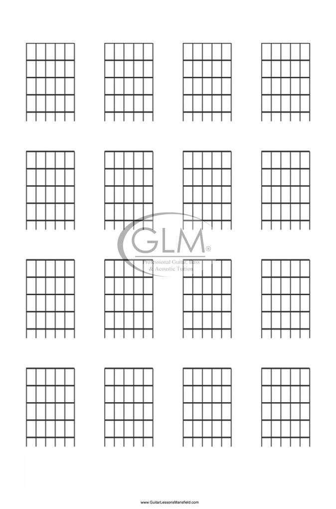 electric and acoustic guitar blank chord