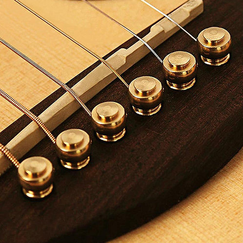 Solid Brass Acoustic Guitar Bridge Pins