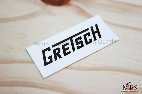 Gretsch Guitar Headstock Waterslide Decal