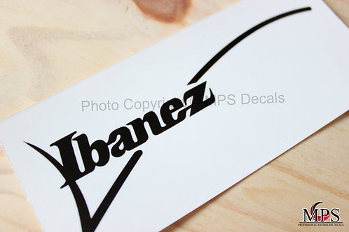Ibanez Guitar Headstock Waterslide Decal