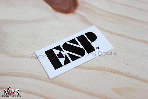 ESP Guitar Headstock Waterslide Decal