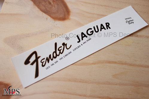Fender Jaguar Guitar Headstock Waterslide Decal