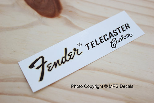 Fender Telecaster Custom 72 Guitar Headstock Waterslide Decal