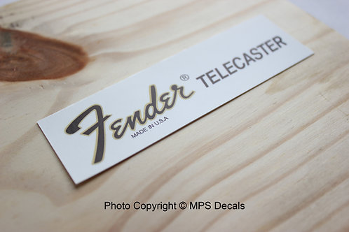 Fender Telecaster MADE IN USA Guitar Headstock Waterslide Decal