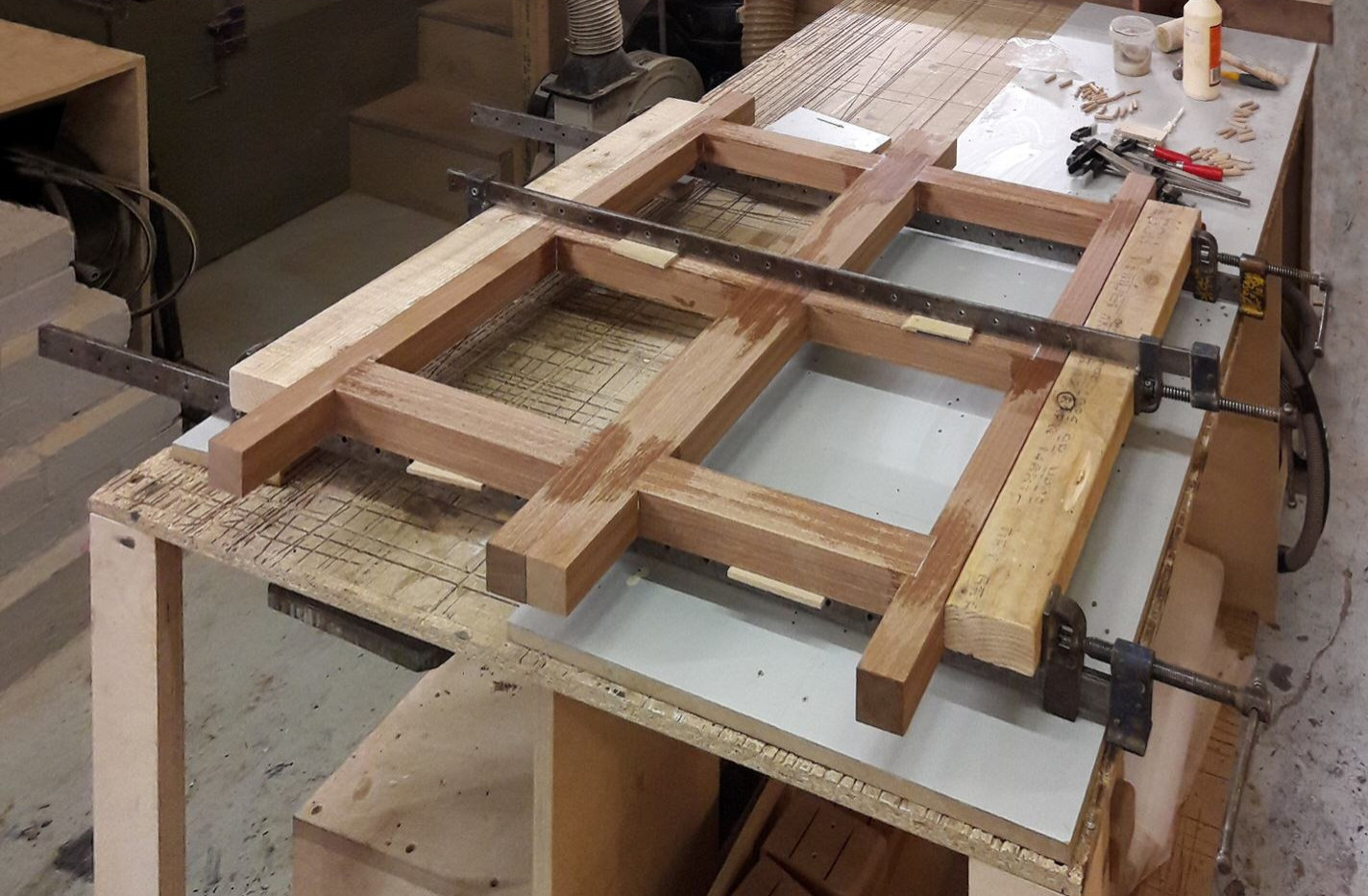 Clamped outer frames
