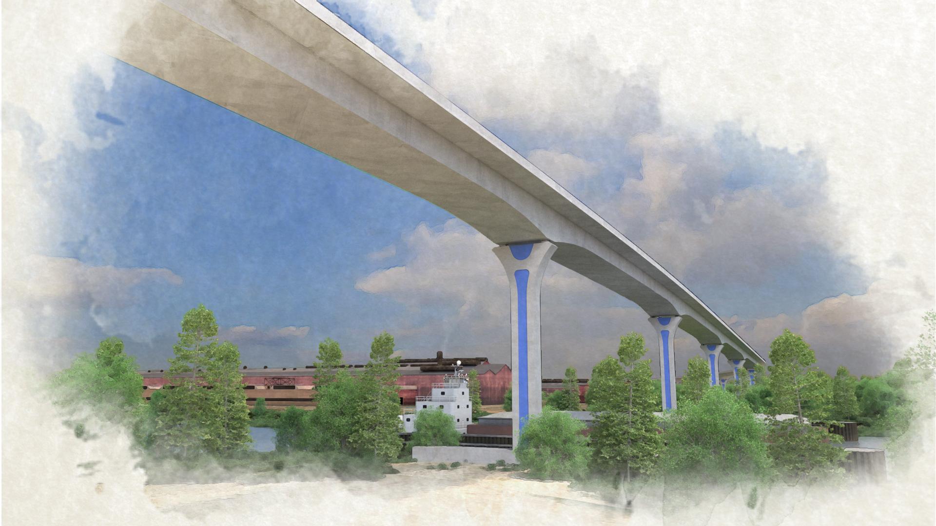 Cline Avenue Bridge – View 6