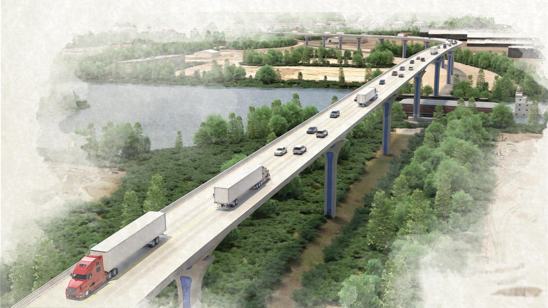 Cline Avenue Bridge – View 3