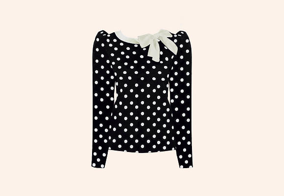 Jersey Lolita Dots Black