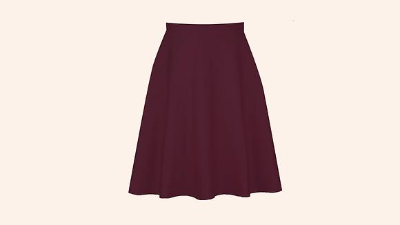 Falda Chalet burgundy