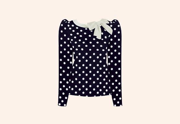 Jersey Lolita Dots Blue