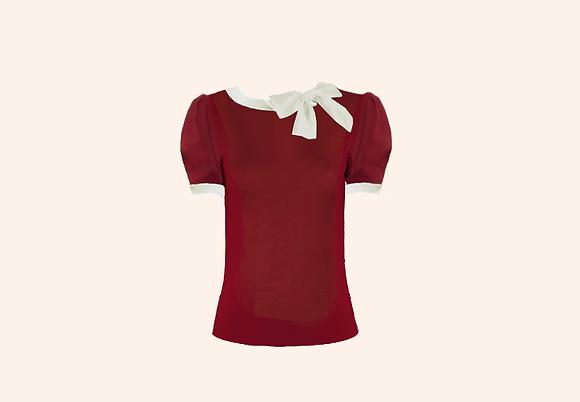 Lolita Burgundy short sleeve