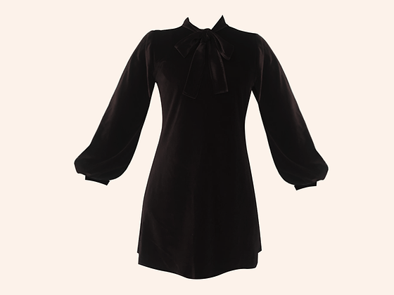 Vestido Velvet Moscou Black