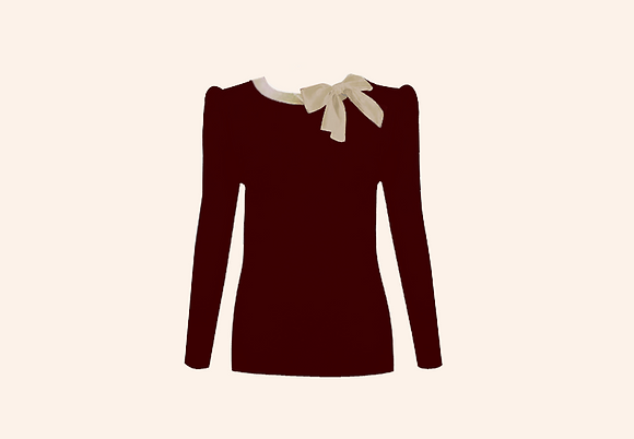 Jersey Lolita burgundy