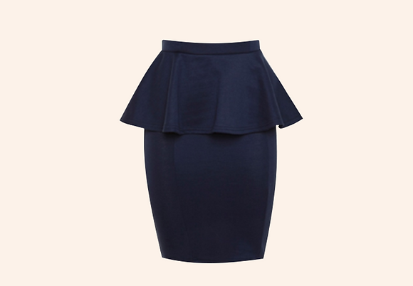 Falda Girly navy