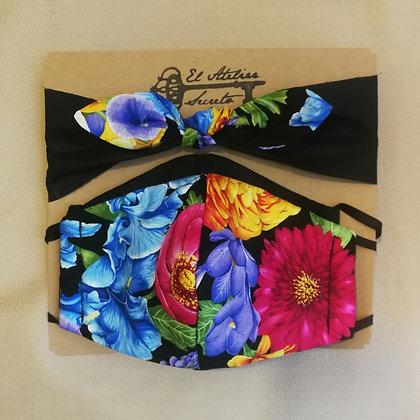 Set Fashion : 2 Mascarilla con filtro MERV-14 reutilizable + Cintillo