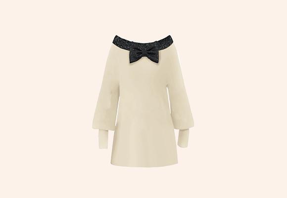 Oversized Minidress Preppy White
