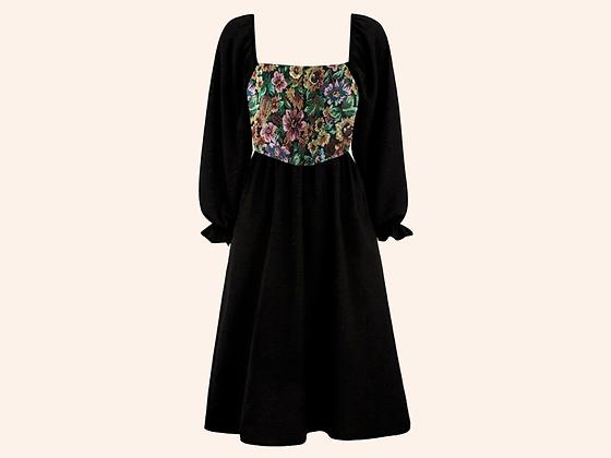 Vestido Velvet Forest Black