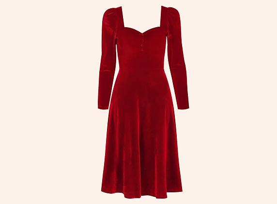 Vestido Velvet Aurora Red